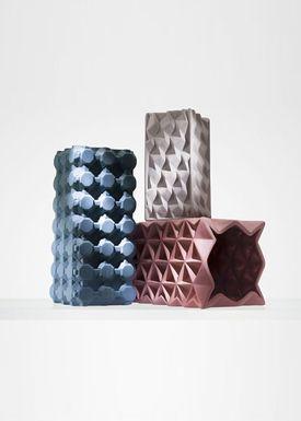 Tom Dixon - Vase - Grid Vase - Tall - Rose Pink