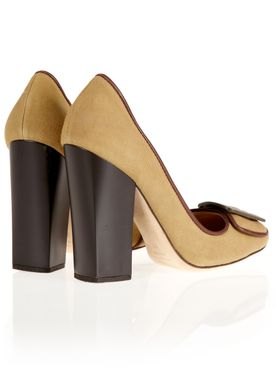 E6786 Stilettos Beige/Brown