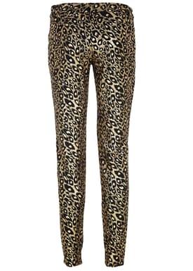 Black Secret - Bukser - Hilary Trousers - Guld Leopard