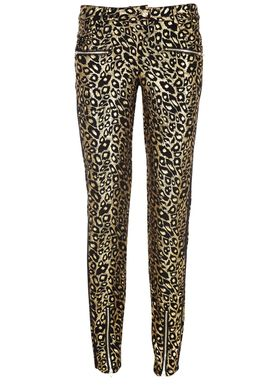 Black Secret - Bukser - Hilary Trousers - Guld Leopard