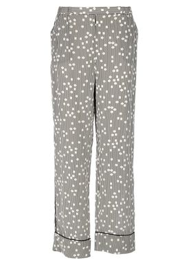 Hofmann Copenhagen - Pants - Rianne Silk Pants - Black/White Print