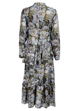 Hofmann Copenhagen - Kjole - Alix Long Dress - Olive Print
