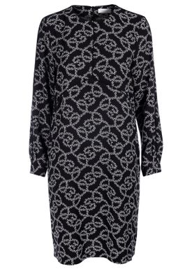 Hofmann Copenhagen - Kjole - Arissa Classic Dress - Black/White Oyster