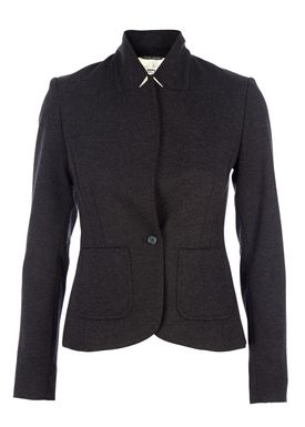 HOPE - Blazer - Judge Knit Blazer - Sort Melange