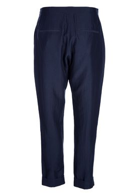 HOPE - Pants - Law Trouser Blue Viscose - Dark Navy