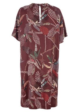 HOPE - Dress - Aila Dress - Wine Red w. Print