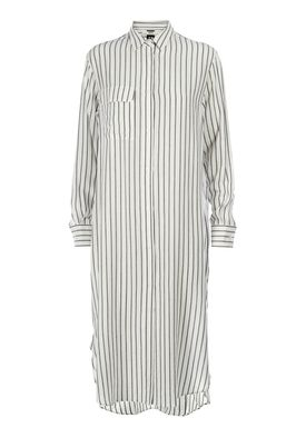 HOPE - Kjole - Nox Pocket Shirt Dress - Offwhite Strib