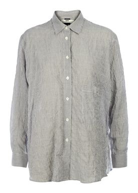 HOPE - Skjorte - Elma Stripe Shirt - White Stripe