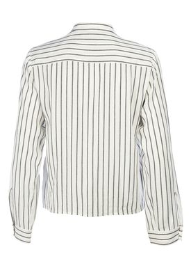 HOPE - Skjorte - June Stripe Shirt - Offwhite Strib