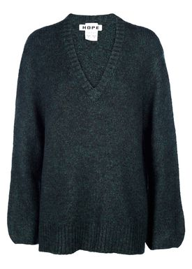 HOPE - Knit - Ash Sweater - Green Melange