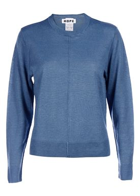 HOPE - Strik - Half Sweater - Light Blue