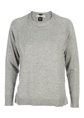 HOPE - Sweater - Liv Cotton Sweater - Light Grey