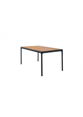 HOUE - Bord - FOUR Table Bamboo Top  - Black/Bamboo 90x160