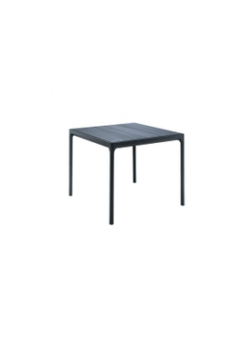HOUE - Bord - FOUR Table Bamboo Top  - Black/Bamboo 90x90
