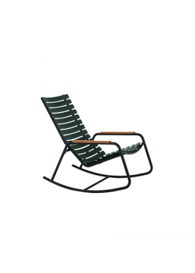 HOUE - Gyngestol - CLIPS Rocking Chair Bamboo Armrest - Black/Pine Green