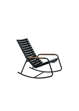 HOUE - Gyngestol - CLIPS Rocking Chair Bamboo Armrest - Black/Black
