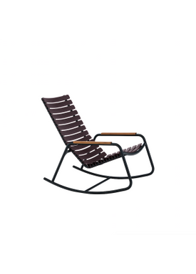 HOUE - Gyngestol - CLIPS Rocking Chair Bamboo Armrest - Black/Plum
