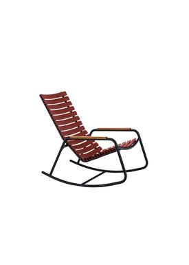 HOUE - Gyngestol - CLIPS Rocking Chair Bamboo Armrest - Black/Paprika