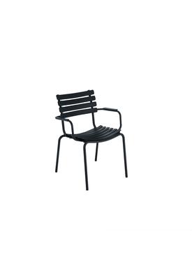 HOUE - Stol - Clips Dining Chair Bamboo Armrest - Black/Black