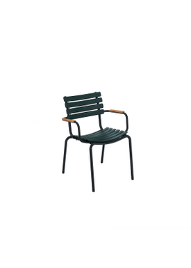 HOUE - Stol - Clips Dining Chair Bamboo Armrest - Black/Pine Green