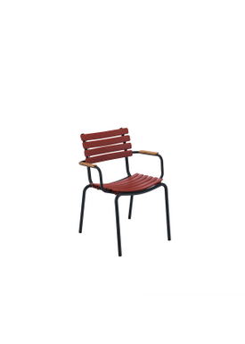 HOUE - Stol - Clips Dining Chair Bamboo Armrest - Black/Paprika