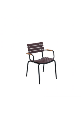 HOUE - Stol - Clips Dining Chair Bamboo Armrest - Black/Plum