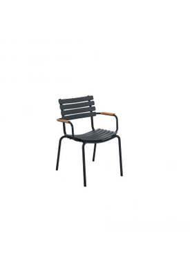 HOUE - Stol - Clips Dining Chair Bamboo Armrest - Black/Clay
