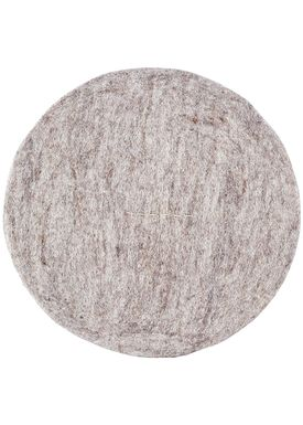 House Doctor - Hynde - Felt Round - Light Grey Melange