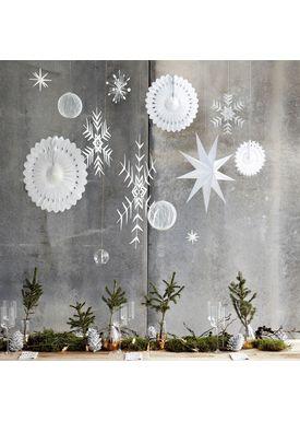 House Doctor - Julepynt - Crystal Ornament Metal - Hvid (36 cm)