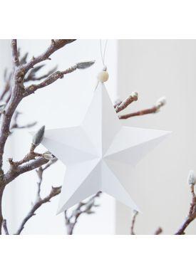 House Doctor - Julepynt - Star Ornaments - Hvid - 20 cm