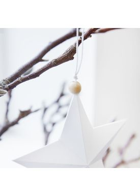 House Doctor - Julepynt - Star Ornaments - Hvid - 12 cm