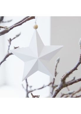 House Doctor - Julepynt - Star Ornaments - Hvid - 15 cm