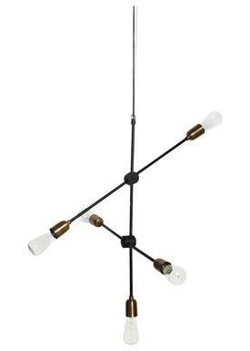 House doctor - Lampa - Molecular Lamp - Large - Brass/Black