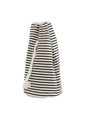 House doctor - Bag - Stripes Tote Bag - Black/Offwhite