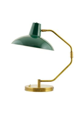 House doctor - Vägglampa - Desk Wall Lamp - Small - Green/Brass