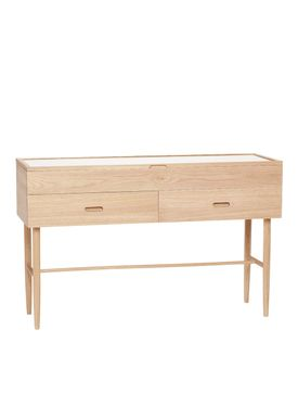 Hübsch - Table - Glass Display Dresser - Large - Oak