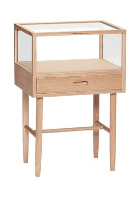 Hübsch - Table - Glass Display Dresser - Small - Oak