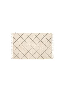 Hübsch - Mattor - Cotton Rug w/ Fringes - Small - White/Gray