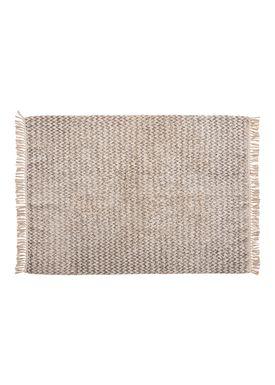 Hübsch - Rug - Large Cotton Rug - White/Grey