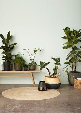 Hübsch - Mattor - Round Floor Rug - Nature