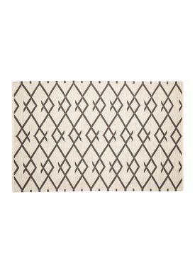 Hübsch - Rug - Woven Cotton Rug - Black/White
