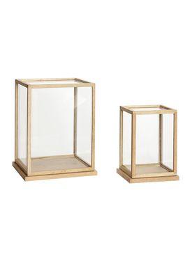 Hübsch - Lådor - Glass Display Box - High - Oak