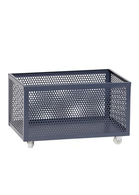 Hübsch - Lådor - Metal Net Storage Box - Low - Dark Gray