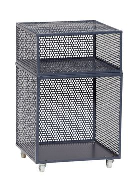 Hübsch - Boxes - Metal Net Storage Box - High - Dark Gray