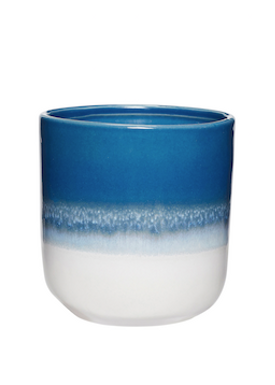 Hübsch - Kop - Ceramic Mugs - Blue