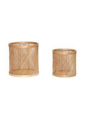 Hübsch - Kurv - Bamboo Cylinder Basket - Nature