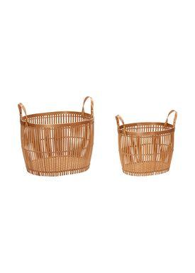 Hübsch - Basket - Bambus Basket - Small Set - Nature