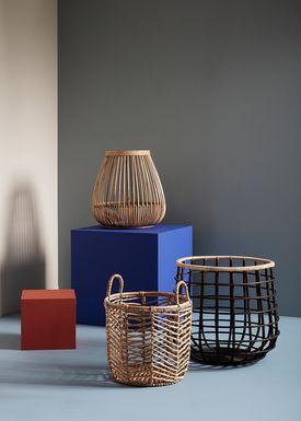 Hübsch - Basket - Rattan Basket - Nature