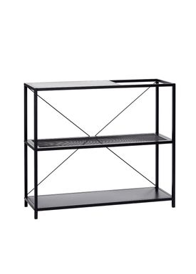 Hübsch - Reol - Metal Mesh Shelf - Black