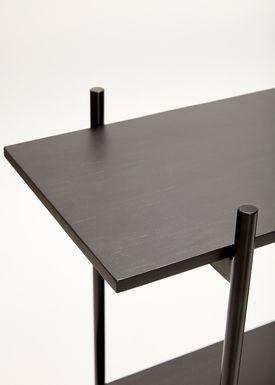 Hübsch - Hyllor - Metal Wooden Top Shelf - Black
